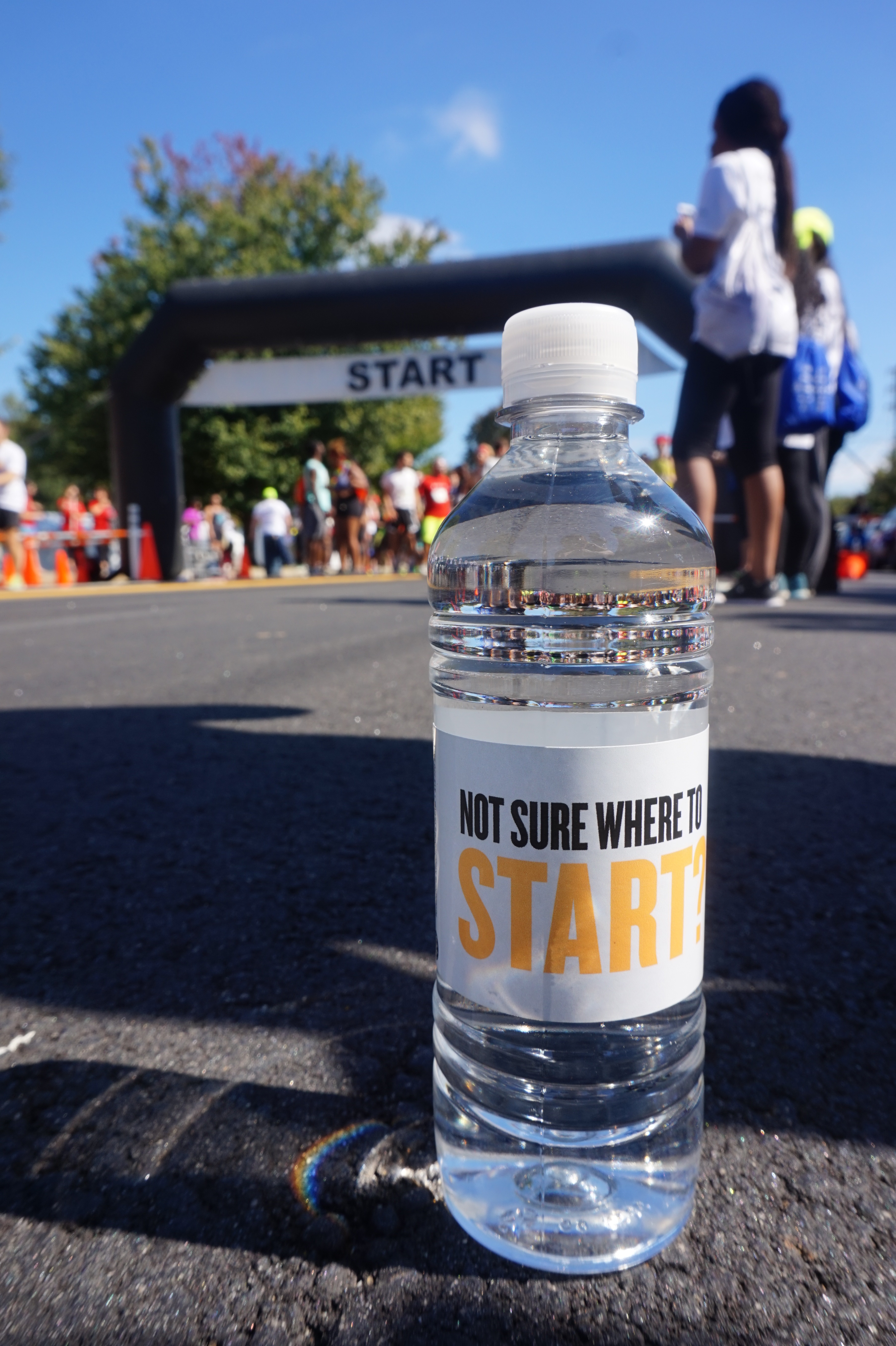 HIV Answers Branded Water Bottles at AIDS Walk Atlanta